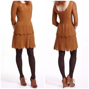 Anthropologie Knitted & Knotted Sweater Dress sm